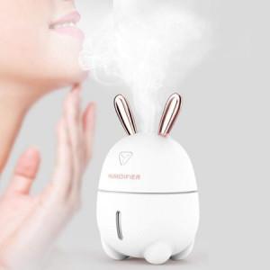 Umidificator silentios, difuzor aromaterapie , model Pink Bunny 200 ml
