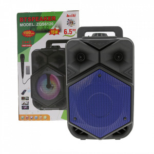 Boxa Portabila BTSPEACKER, Microfon, Telecomanda, Bluetooth, USB, TF-Card, FM, ZQS6120-BLUE