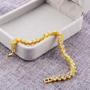 Bratara dama, hearts - auriu BR318-V2
