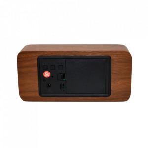 Ceas digital VST862 de birou, aspect lemn, USB