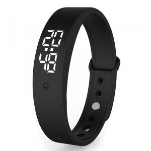 Ceas Sport Smart Led cu Monitorizare Temperatura Corp, Alarma, Cronometru, Data - Negru