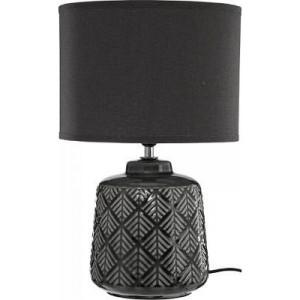 Lampă ceramică Ilou , inaltime 35 cm , gri închis , PM1617103