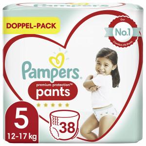 Scutece-chilotel Pampers Premium, Pants, marimea 5, 12-17 Kg, 38 bucati, PM85038463