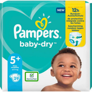 Scutece Pampers Baby-Dry, marimea 5+, 12-17 Kg, 29 bucati, PM2264795-53