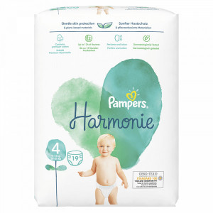 Scutece Pampers Harmonie, marimea 4, 9-14 Kg, 19 bucati, PM79236413