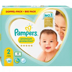 Scutece Pampers Premium, marimea 2, 4-8 Kg, 80 bucati, PM11033