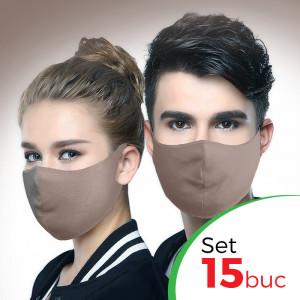 Set 15 buc Masca protectie pentru fata Fashion, Culoare Bej