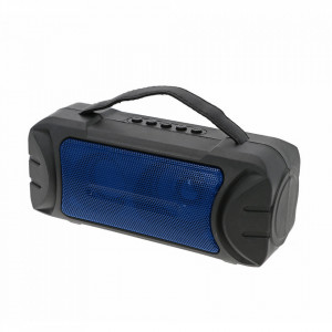 Boxa Portabila ZQS-T315 Albastra cu Incarcare Solara si Lanterna, Suport USB, TF, FM, Bluetooth
