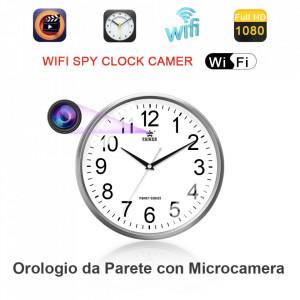 Ceas Perete cu Camera Ascunsa Full HD T11,WiFi,P2P IP,H.264,Detectie Miscare,Slot Card 64 GB