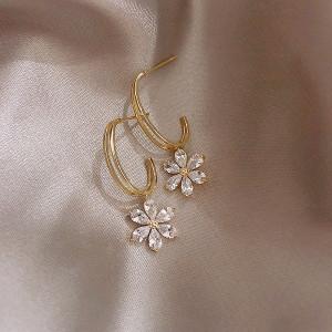 Cercei Dama, flower - auriu CD024