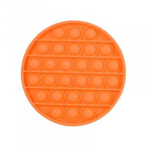 Jucarie Senzoriala Interactiva, Pop It, Bubble, Rotund, Portocaliu, POP-IT ORANGE