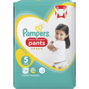 Scutece-chilotel Pampers Premium, Pants, marimea 5, 12-17 Kg, 17 bucati, PM71675383
