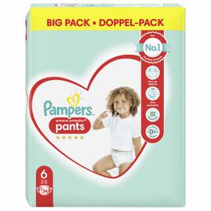 Scutece-chilotel Pampers Premium Pants, marimea 6, 15+ Kg, 34 bucati, PM85372503