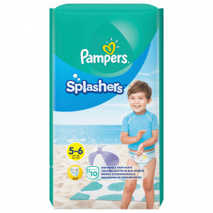 Scutece-chilotel Pampers Splashers, pentru apa, marimea 5-6, 14+ Kg, 10 bucati, PM72448473