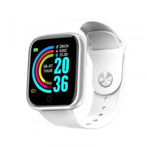 Smartwatch Y68, Fitness Tracker, Bluetooth, Alb