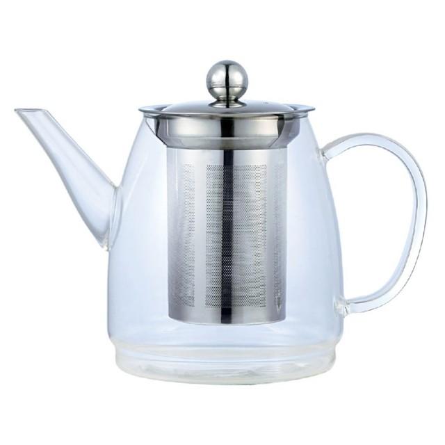 Ceainic din sticla cu sita din inox KingHoff, capacitate 900 ml thumbnail