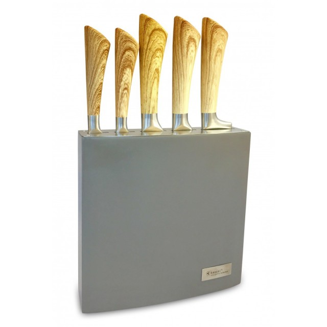 Set cutite cu lama inox si suport din lemn Kassel, 6 piese thumbnail