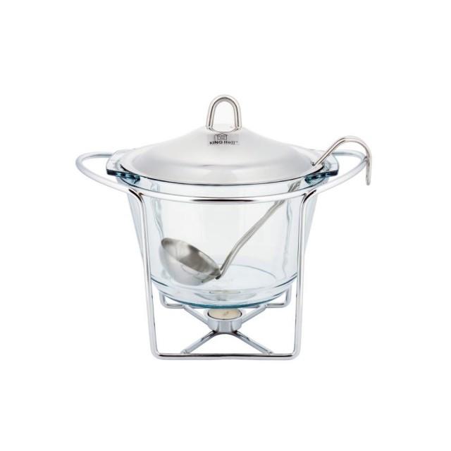 Vas cald (dish) KingHoff, pentru supa, inox, capacitate 4.1 litri thumbnail