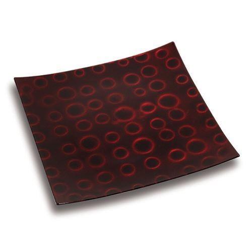 Platou decorativ Nava, diametru 30 cm, rosu inchis thumbnail