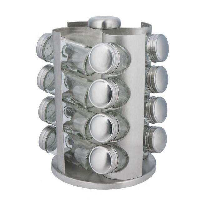 Set de recipiente pentru condimente KingHoff, 17 piese, suport rotund thumbnail