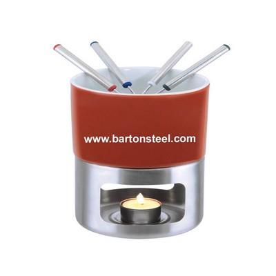 Set fondue pentru ciocolata format din 6 piese Barton Steel thumbnail