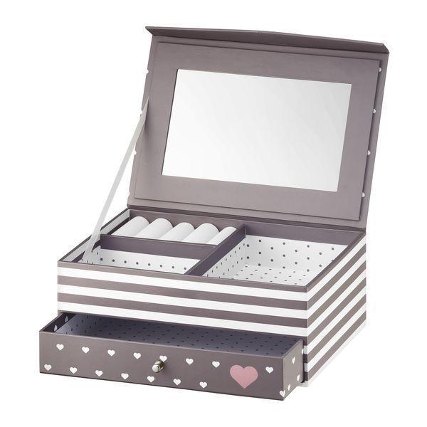 Cutie de bijuterii cu oglinda si sertar 20x14x8cm classic Look thumbnail