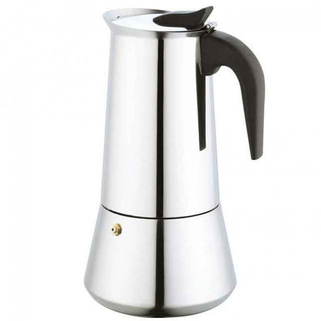 Espressor pentru aragaz KingHoff, capacitate 9 cupe, inox, maner bachelita, inductie thumbnail