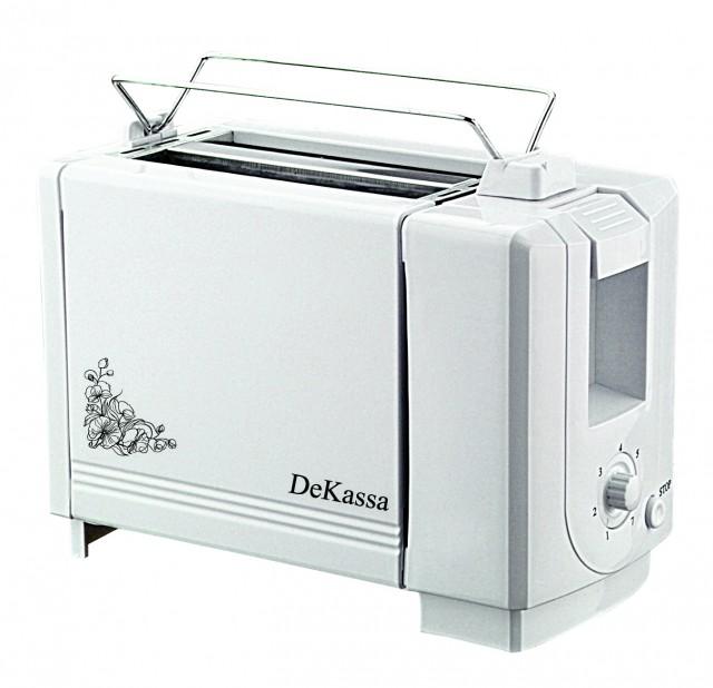 Prajitor de paine (toaster) DeKassa 1510, 750W, culoare alb thumbnail