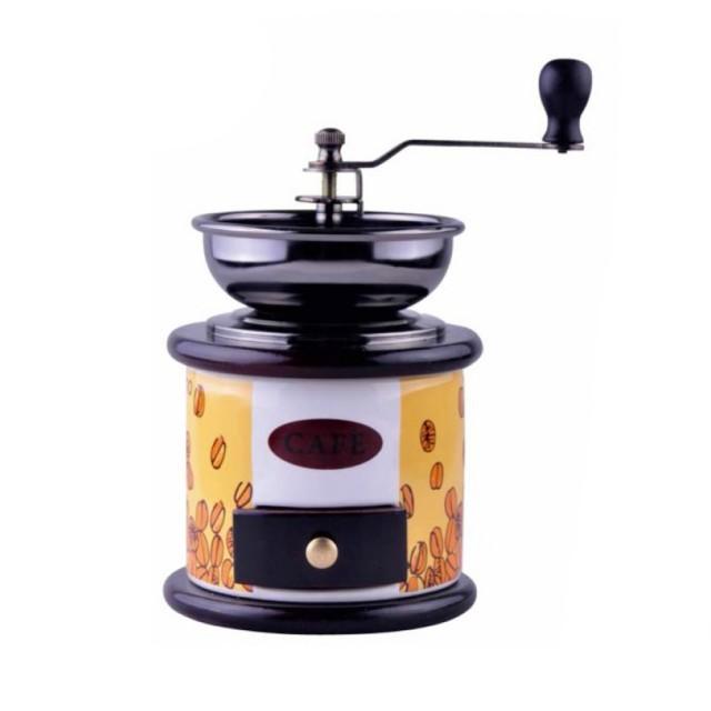 Rasnita manuala pentru cafea KingHoff, elemente din lemn si ceramica