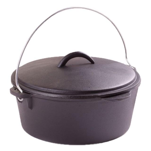 Ceaun (tuci) din fonta pura, capac, diametru 25 cm, capacitate 3.8 Litri, inductie thumbnail