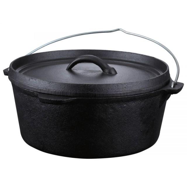 Ceaun (tuci) din fonta pura Peterhof, capac, diametru 20 cm, capacitate 2.5 Litri, inductie thumbnail