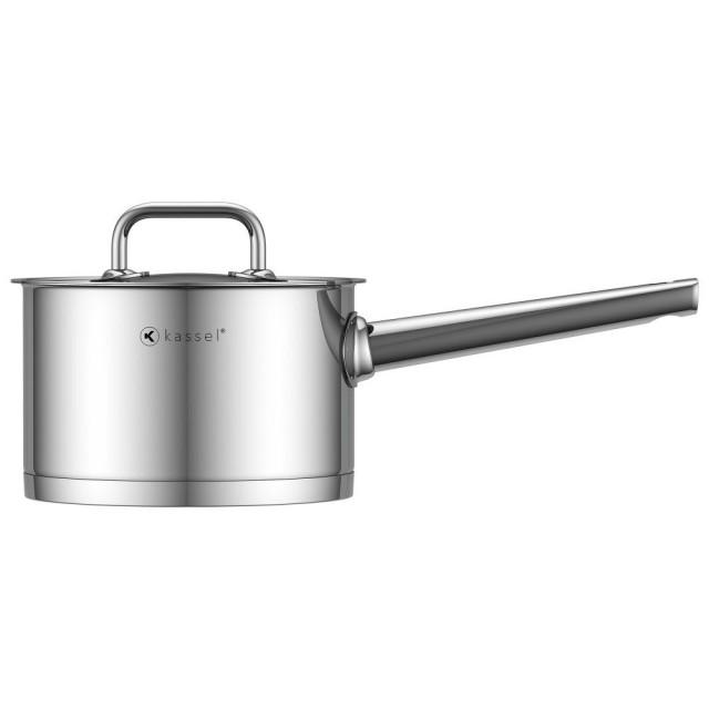 Craticioara inox Kassel, diametru 16 cm, capacitate 2 litri, capac, inductie, seria Pro Chef thumbnail