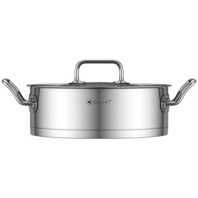 Cratita inox Kassel, diametru 24 cm, capacitate 3.6 litri, capac, inductie, seria Pro Chef thumbnail