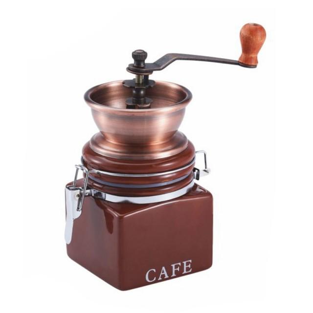 Rasnita manuala pentru cafea KingHoff, recipient ermetic, ceramica