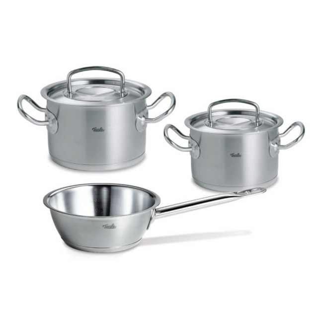 set de oale din inox fissler 5 piese seria original profi collection inductie capac. Black Bedroom Furniture Sets. Home Design Ideas