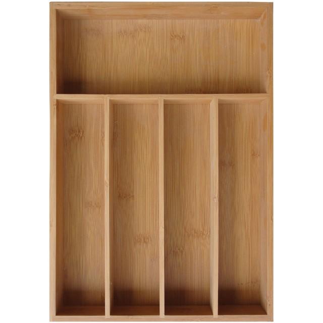 Suport pentru tacamuri Kinghoff, latime 26.5 cm, material bambus thumbnail