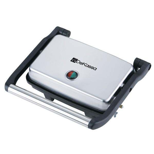 Grill electric din inox pentru panini DeKassa, putere 1500W thumbnail