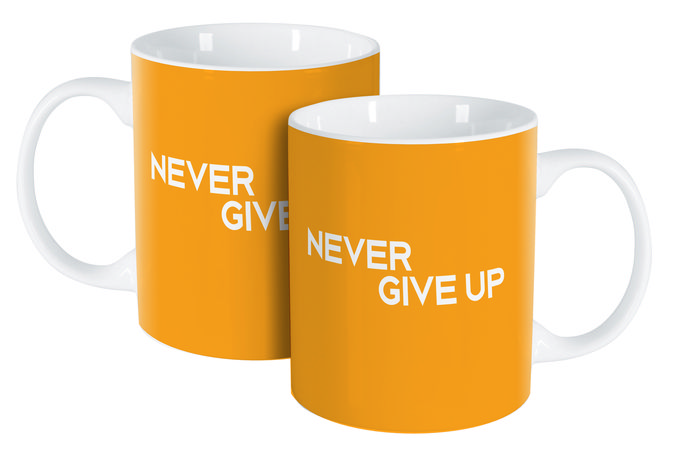 Cana 350ml Never Give Up Happy
