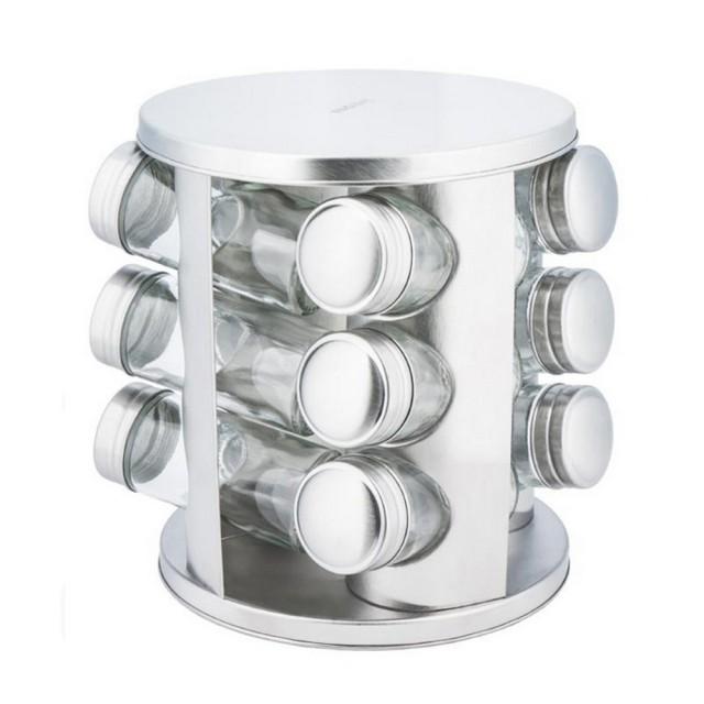 Set de recipiente pentru condimente KingHoff, 13 piese, suport rotund thumbnail