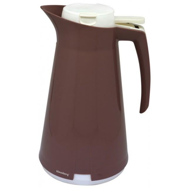 Termos - dispenser pentru ceai sau cafea Klausberg, capacitate 1000 ml, maro thumbnail