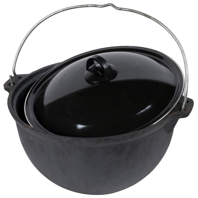 Ceaun (tuci) din fonta pura, capac diametru 30 cm, capacitate 9 Litri thumbnail