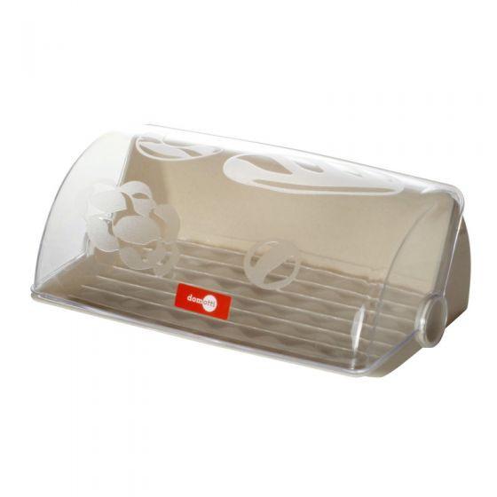 Cutie pentru paine, capac transparent, culoare crem, colectia Avangarda thumbnail