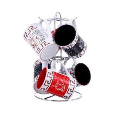 Set 6 cani din ceramica cu suport cromat VaBene VB-6070068 thumbnail