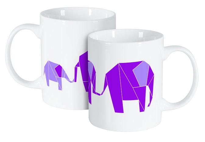Cana 350ml elefant origami Happy