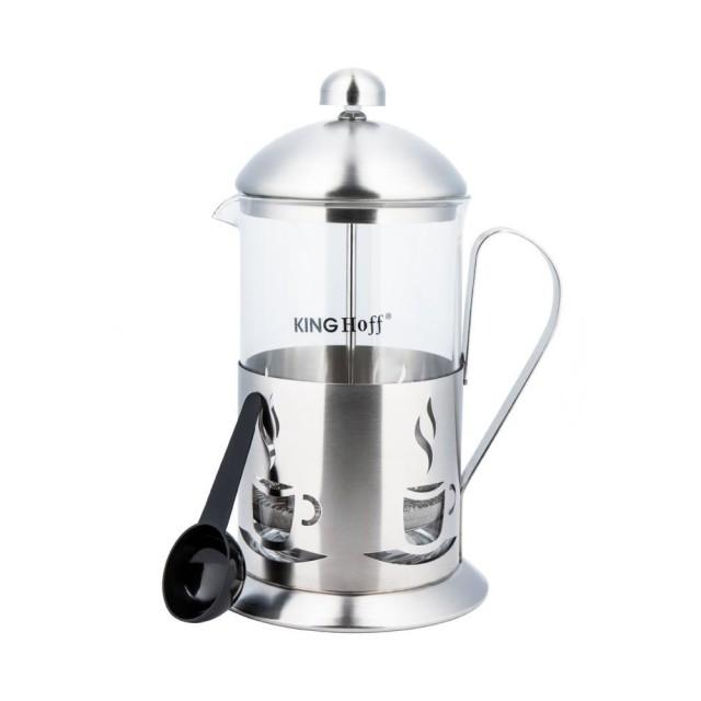 Infuzor din inox pentru ceai sau cafea KingHoff, capacitate 800 ml thumbnail
