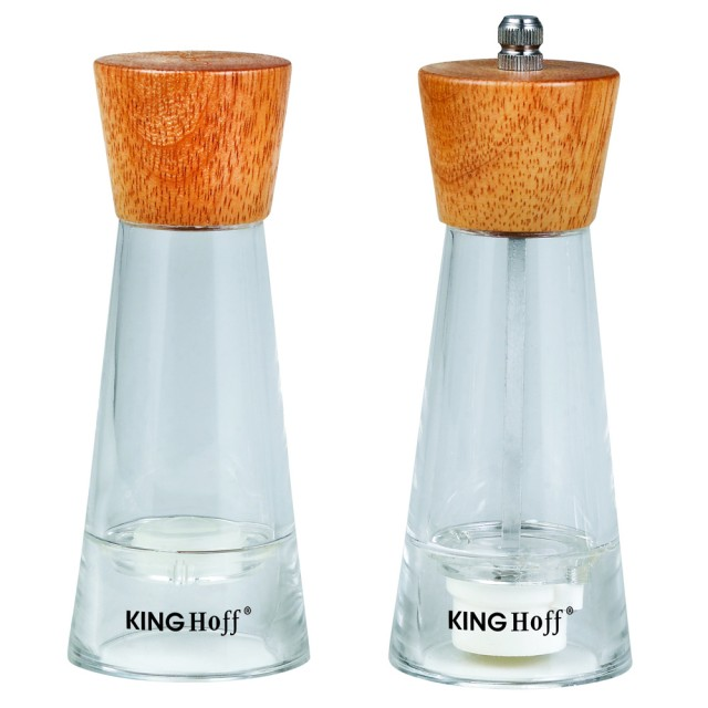 Set rasnita si solnita KingHoff, lemn si plastic, mecanism ceramica thumbnail