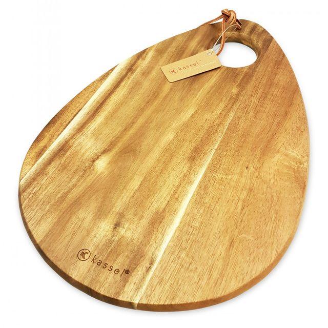 Tocator din lemn de salcam Kassel, inel pentru agatare din piele thumbnail