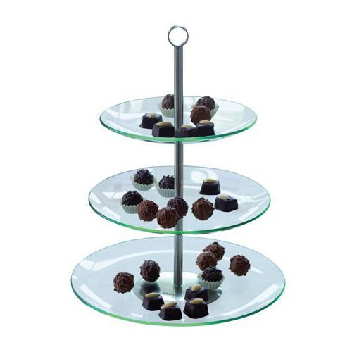 Platou pentru prajituri cu trei niveluri KingHoff, diametru 21, 25 si 30 cm thumbnail