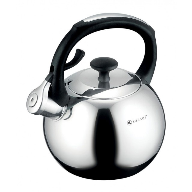 Ceainic cu fluier Kassel, capacitate 2 litri, material inox, inductie, seria Apple thumbnail
