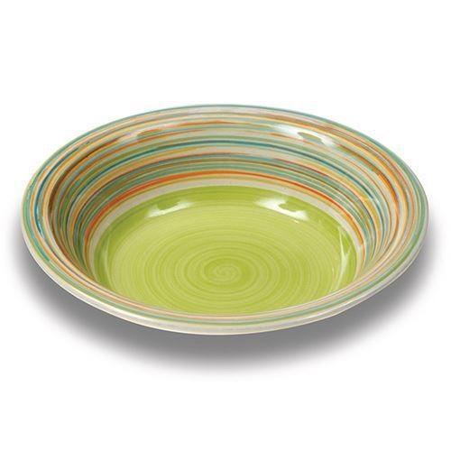 Farfurie pentru supa Nava, ceramica, diametru 21 cm, verde thumbnail